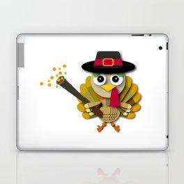 Colorful Thanksgiving Turkey Pilgrim Hat Cartoon Laptop & iPad Skin