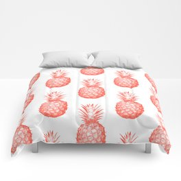 Coral Pineapple Comforters