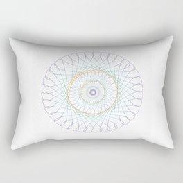 Iridescent Spirograph Pattern I Rectangular Pillow