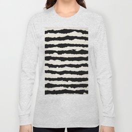 Tribal Stripes Black on Cream Long Sleeve T-shirt