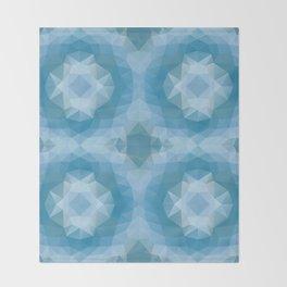 """""""Winter snowflakes"""" mozaic design Throw Blanket"""