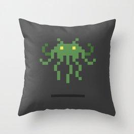Cthulhu Invader Throw Pillow