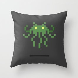 Cthulhu Invader Throw Pillow
