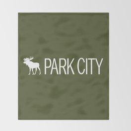 Utah: Park City Moose Throw Blanket