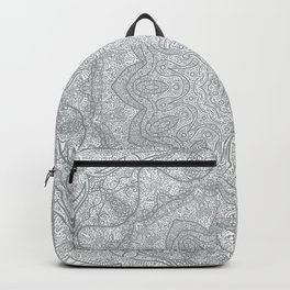 Gray Mandala Bohemian chic Backpack