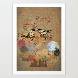 Two Little Birds Art Print