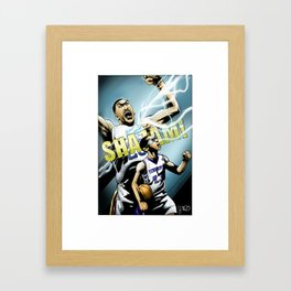 The Brow of SHAZAM! Framed Art Print