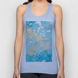 Gold Abstract Modern Painting Unisex Tank Top