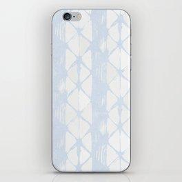 Simply Braided Chevron Sky Blue on Lunar Gray iPhone Skin