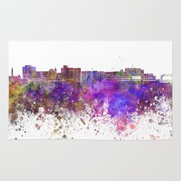 Duluth skyline in watercolor background Rug