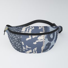 Boho Blues Patchwork Fanny Pack
