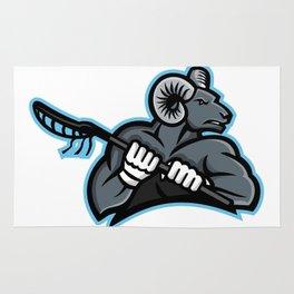 Bighorn Ram Lacrosse Mascot Rug
