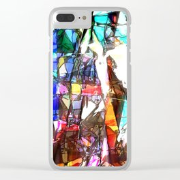 Light Streaming Through Stained Glass Clear iPhone Case