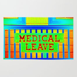 Medical Leave Art Rug