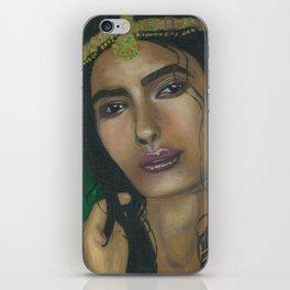 Lady in Green iPhone Skin