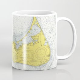 Vintage Map of Nantucket (1975) Coffee Mug