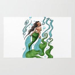 Iara, legend of Brazilian folklore Rug