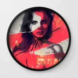 Hard rain Wall Clock