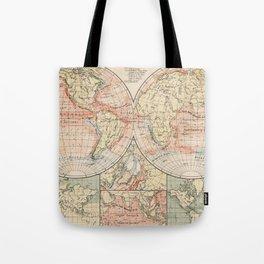 Vintage World Ocean Currents Map (1905) Tote Bag