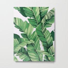 Tropical banana leaves V Metal Print