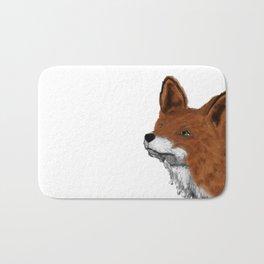 Watercolor animals fox painting Bath Mat