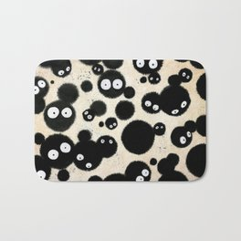 Cute Susuwatari Infestation Bath Mat