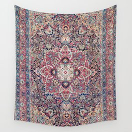 Kashan Central Persian Rug Print Wall Tapestry