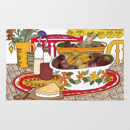 Healthy Eating Time Rug
