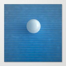 white on blue Canvas Print