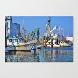 Galveston Fishing Boats Canvas Print
