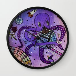Octopus in Space- Oswald's takeover Wall Clock