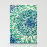 bianca green Stationery Cards featuring Emerald Doodle by micklyn