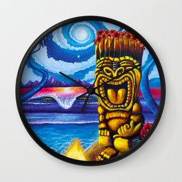 Tiki Moon Wall Clock