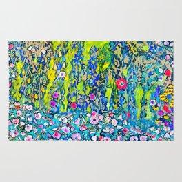"""Gustav Klimt """"Horticultural Landscape with hilltop"""" Rug"""