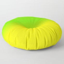Neon Green and Neon Yellow Ombré  Shade Color Fade Floor Pillow