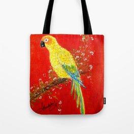 Macaw bird Tote Bag
