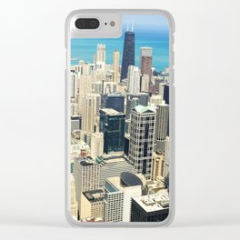 Chicago Buildings Color Photo Clear iPhone Case