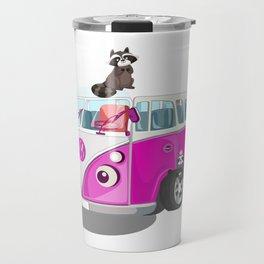 Cute pink bus Travel Mug