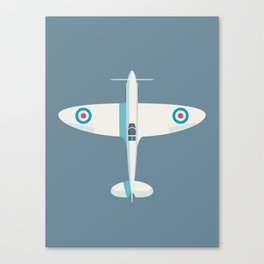 Supermarine Spitfire WWII fighter aircraft - Slate Canvas Print