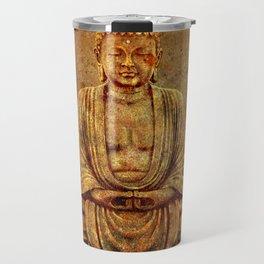 Sand Stone Sitting Buddha Travel Mug