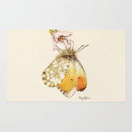 Aurorafalter butterfly Rug