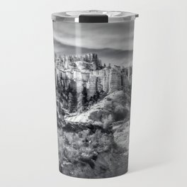 Castle in the sky in black and white - Water Canyon Travel Mug