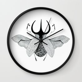 Beetle #5 B&W Wall Clock