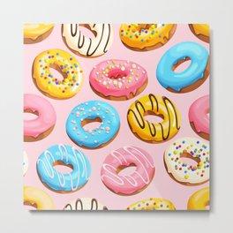 Donuts Pink Modern Decor Contemporary Modern Décor Metal Print