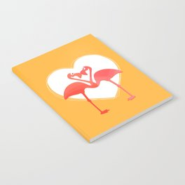 lovebirds - flamingos in love Notebook