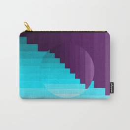 Ups and Down | Deep Within | Purple | Blue | Turquoise Carry-All Pouch
