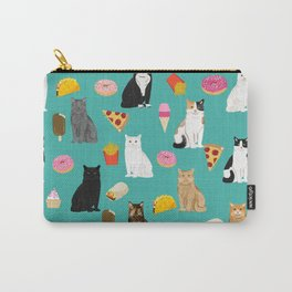 Cat breeds junk foods ice cream pizza tacos donuts purritos feline fans gifts Carry-All Pouch