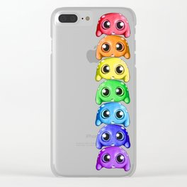 Bitty Rainbow Monsters Clear iPhone Case