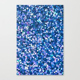 Dazzling Blue Sequences (Color) Canvas Print