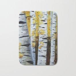 Birch Grove, acrylic painting, inspired by Belarus Bath Mat